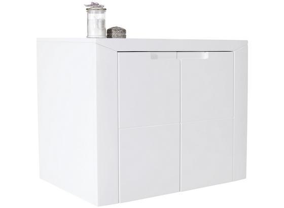 Kommode Bree B:85cm Weiß Hochglanz - Weiß, MODERN, Holzwerkstoff (85/63,6/38cm)