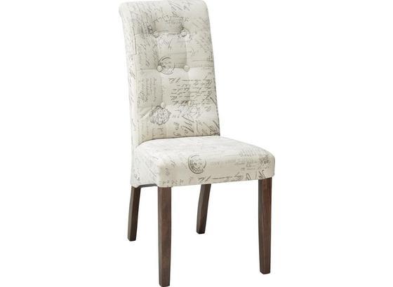 Židle Selena Premium - šedá/krémová, Romantický / Rustikální, dřevo (48/102/50cm)