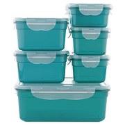 Gourmetmaxx Frischhaltedosenset 14 Tlg. - Smaragdgrün/Transparent, Basics, Kunststoff - TV - Unser Original