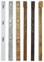 Šatní Lišta Enzo - barvy olše/světle hnědá, Moderní, dřevěný materiál (12/175/2,8cm)