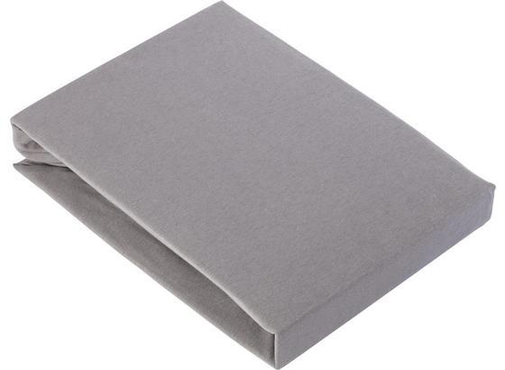 Napínacie Prestieradlo Basic - sivá, textil (180/200cm) - Mömax modern living