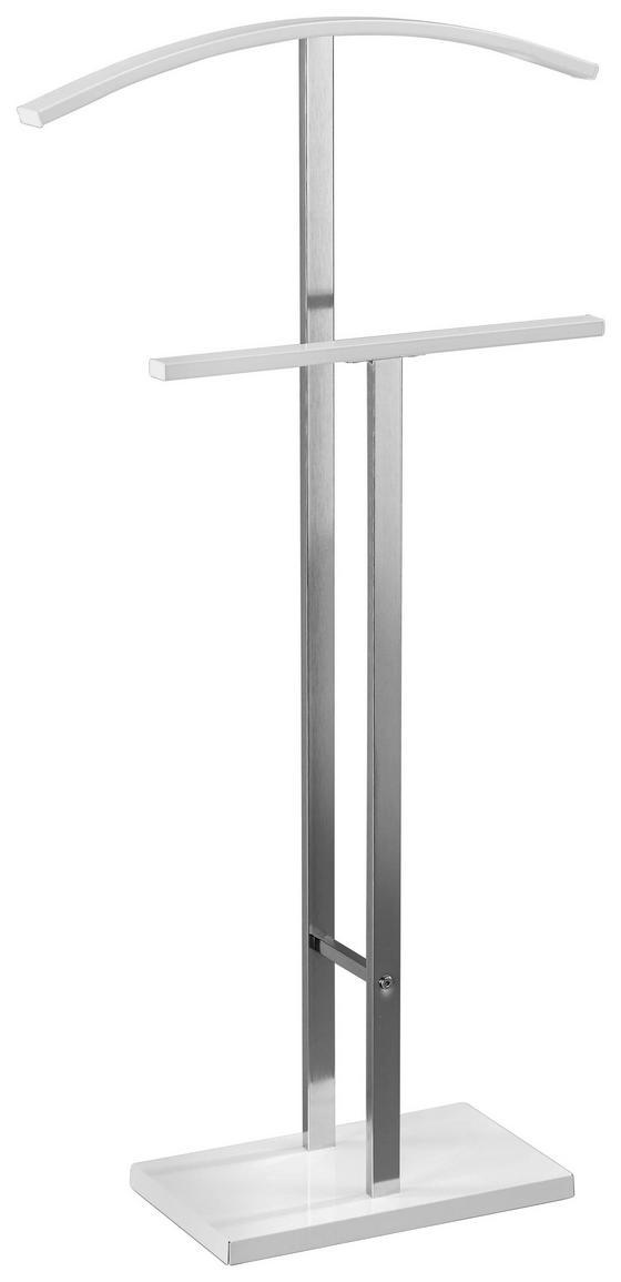 Herrendiener Helma - Chromfarben/Weiß, MODERN, Metall (48/100/20cm)