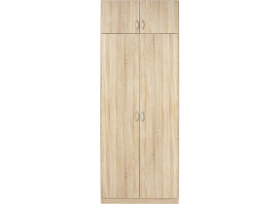 Šatníková Skriňa Karo - Konvenčný, kompozitné drevo (91/197/54cm)