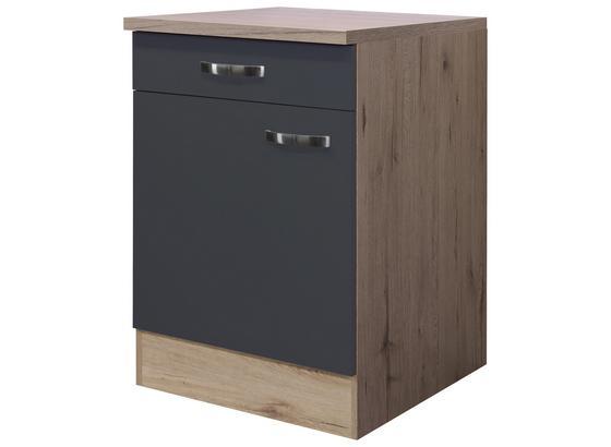 Küchenunterschrank Shadow    Us60 - Grau, MODERN, Holzwerkstoff (60/85/60cm)