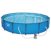 Stahlrahmen-Pool 56595 - Blau, Kunststoff/Metall (427/84cm) - Bestway
