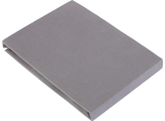 Prostěradlo Napínací Basic - šedá, textil (100/200cm) - Mömax modern living