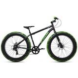Mountainbike Fatbike 26'' Crusher 277m - Schwarz/Grün, Basics, Metall (180/70/80cm)