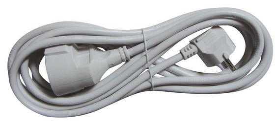 Verlängerungskabel 5 M - Weiß, KONVENTIONELL, Kunststoff (500cm)