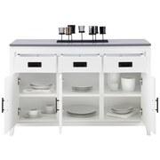 Komoda Liana - bílá/šedá, Moderní, dřevo (120/80,5/43cm) - MÖMAX modern living