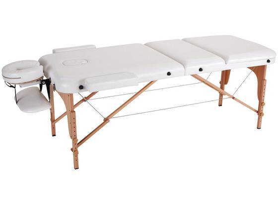Massageliege Wooden B: 70 cm Buche - Beige/Buchefarben, MODERN, Holz/Holzwerkstoff (185/70/62-85cm) - Ombra