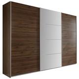 Skriňa Ernie Dekor Orech - farby orechu, Moderný, drevený materiál/pohár (270/210/65cm)
