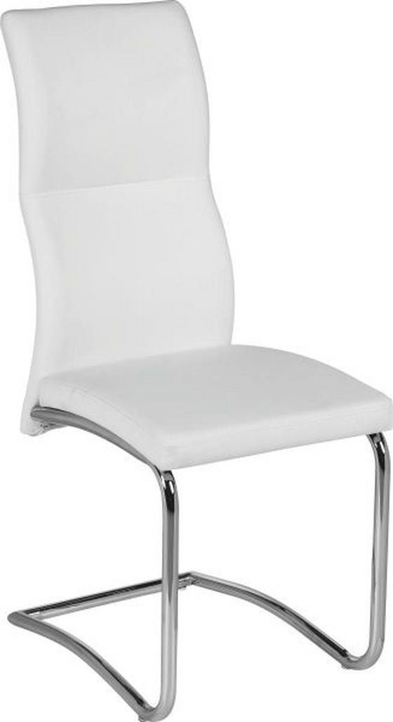 Szánkótalpas Szék Wendy - Fehér, modern, Fém/Textil (43,5/102/62cm)