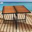 Gartentisch Faro - Schwarz/Braun, Basics, Holz/Kunststoff (110/110/75cm)