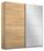 Schwebetürenschrank Belluno 181 cm Eiche/spiegel - Sonoma Eiche, MODERN, Holzwerkstoff (181/210/62cm)