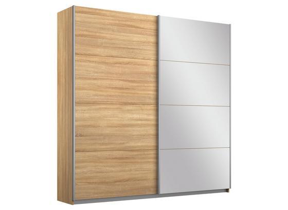 Schwebetürenschrank Belluno B:181cm Sonoma Eiche Dekor - Sonoma Eiche, MODERN, Holzwerkstoff (181/210/62cm)