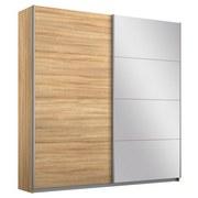 Schwebetürenschrank Belluno B:181cm Sonoma Eiche/ Spiegel - Sonoma Eiche, MODERN, Holzwerkstoff (181/230/62cm)