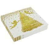 Serviette Glorious Angels - Goldfarben/Weiß, Basics, Papier (33/33cm)