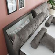 Boxspringbett mit Topper & Bettkasten 180x200 Lagos - Silberfarben/Grau, Basics, Holzwerkstoff/Textil (180/200cm) - MID.YOU