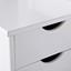 Bettanlage inkl. Nachtkästchen + Stauraum 90x200 Till, Weiß - Weiß/Naturfarben, Basics, Holz (90/200cm) - MID.YOU