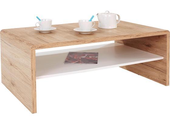 Konferenčný Stolík Cala Luna - farby dubu/biela, Moderný, kompozitné drevo (100/40/59cm)
