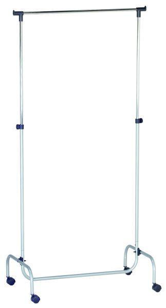 Ruhaállvány Charly - Króm/Alu, modern, Műanyag/Fém (80/110-170/45cm)