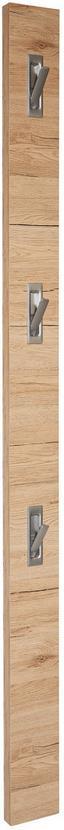 Nástenný Vešiak Enzo - svetlohnedá/farby jelša, Moderný, drevený materiál (12/175/2,8cm)