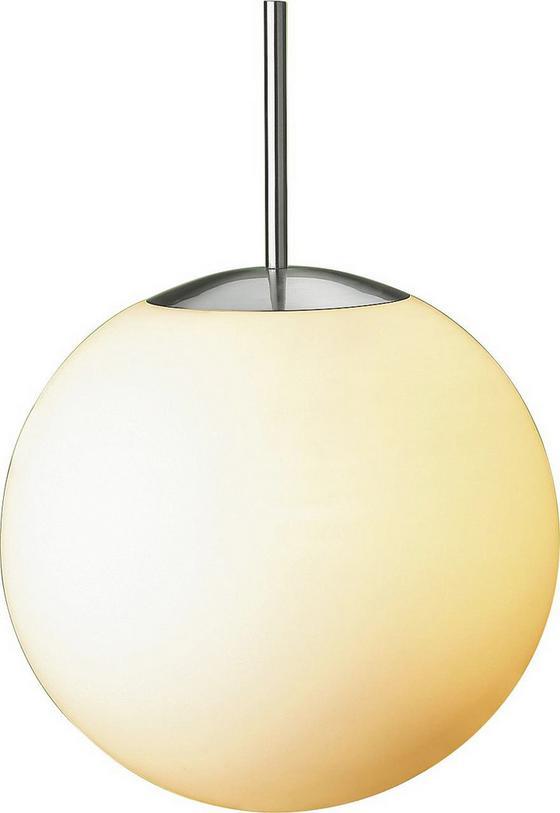 Hängeleuchte Owen - Opal, KONVENTIONELL, Glas/Metall (30cm) - Ombra
