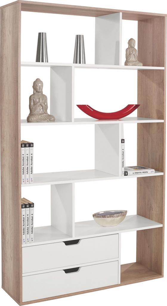 Térelválasztó Roberto - tölgy színű/fehér, modern, faanyagok (110/185/32cm)