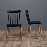 Židle Celine - černá/barvy buku, Moderní, dřevo/umělá hmota (43,5/82/51,5cm) - Modern Living
