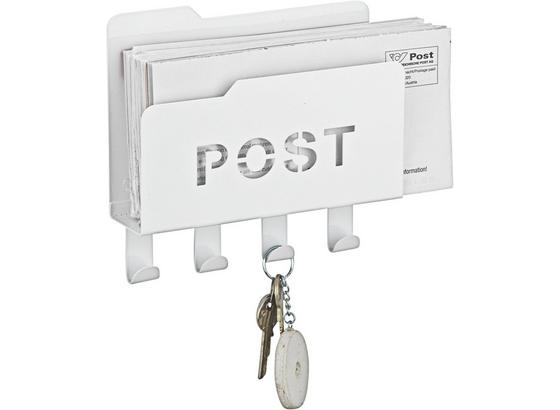 Organizér Post - bílá, kov (20/5,1/18,8cm) - Mömax modern living