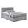 Boxspringbett Nero Liegefläche 140x200cm - Chromfarben/Schwarz, KONVENTIONELL, Textil (140/200cm)