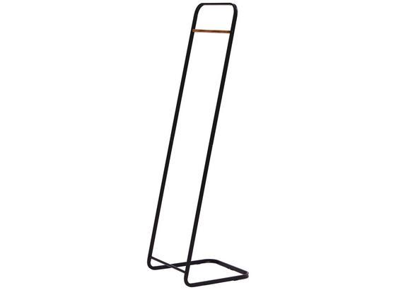 Kleiderständer Scandic II 40cm Schwarz - Schwarz, MODERN, Kunststoff/Metall (40/140/40cm)