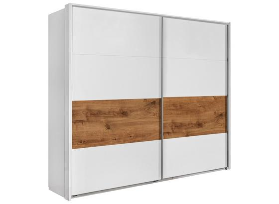 Skříň S Posuvnými Dveřmi Bert - bílá/barvy dubu, Romantický / Rustikální, dřevo/kompozitní dřevo (225/210/65cm)