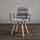 Židle S Područkami Jan - světle šedá/barvy buku, Moderní, dřevo/textil (65/59/86cm) - Modern Living