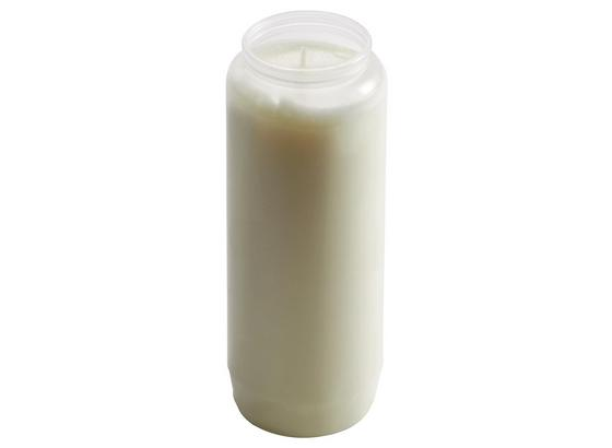 Grablicht Martha - Transparent/Weiß, Kunststoff (6,7/17,5cm) - Ombra