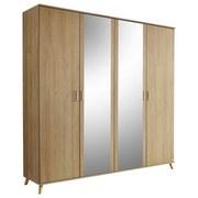 Skriňa Falun - farby dubu, Moderný, drevený materiál (182/203/53cm)