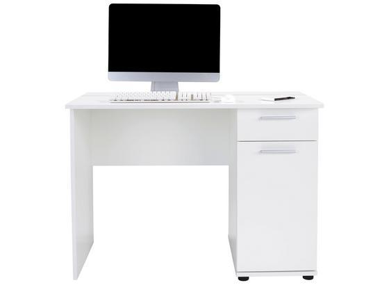 Písací Stôl Star - biela, Konvenčný, kompozitné drevo (109/77/60cm)