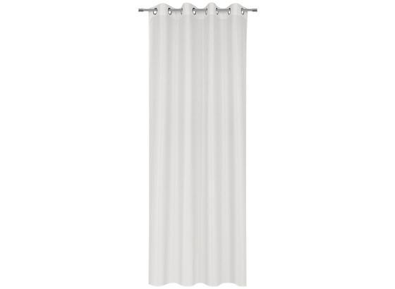 Záves S Krúžkami Iceland - biela, textil (140/245cm) - Mömax modern living