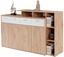 Komoda Tom - bílá/barvy dubu, Moderní, kompozitní dřevo (190/105/40cm)