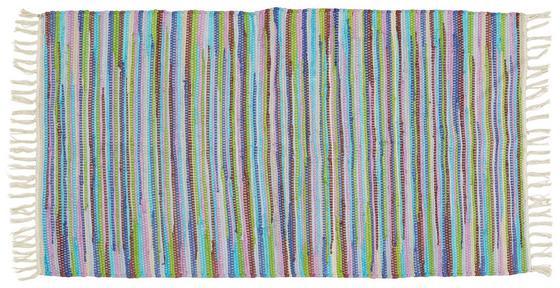 Handwebteppich Annika 70x120 cm - Multicolor, KONVENTIONELL, Textil (70/120cm) - Ombra