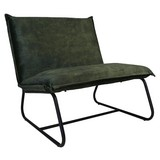 Sessel Paris Bench B: 83 cm Olivgrün - Schwarz/Olivgrün, MODERN, Textil (83/83/75cm) - MID.YOU