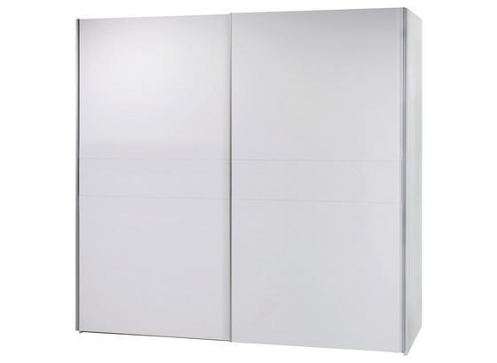 Skriňa S Posuvnými Dvermi Poly 4 - biela, Moderný, kompozitné drevo (215/210/58cm)