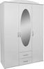 Kleiderschrank Touch 3 - Weiß, ROMANTIK / LANDHAUS, Holzwerkstoff (127/196/52cm)