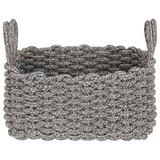 Aufbewahrungskörbchen Adorata - Schwarz/Weiß, Basics, Textil (32/19/16cm) - Luca Bessoni