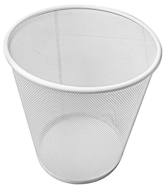 Papierkorb Mesh - Weiß, MODERN, Metall (30,5/34,5cm)