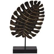 Skulptur Tropical - Schwarz, Design, Holzwerkstoff (17.5/5.5/29.5cm)