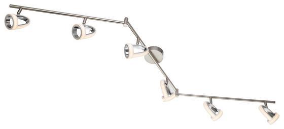 LED-Spotleuchte Tara - Chromfarben, MODERN, Kunststoff/Metall (150/19cm)