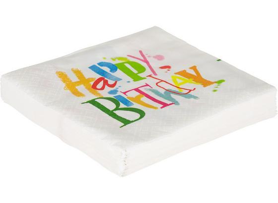 Servítky Birthday Dance - viacfarebná/biela, papier (33/33cm)