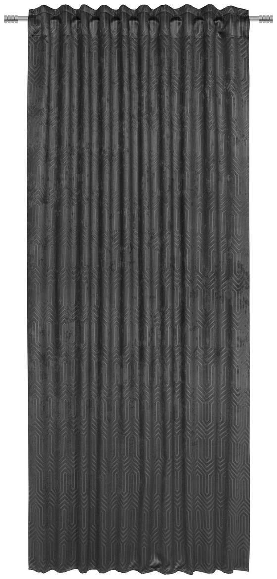 Fertigvorhang Bianca - Anthrazit, ROMANTIK / LANDHAUS, Textil (140/245cm) - James Wood