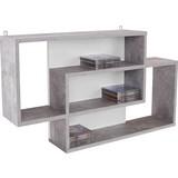 Wandregal Dream - Weiß/Grau, MODERN, Holzwerkstoff (90/48/16cm)